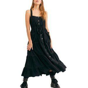 NWT FREE PEOPLE Catch the Breeze Linen-Blend Dress